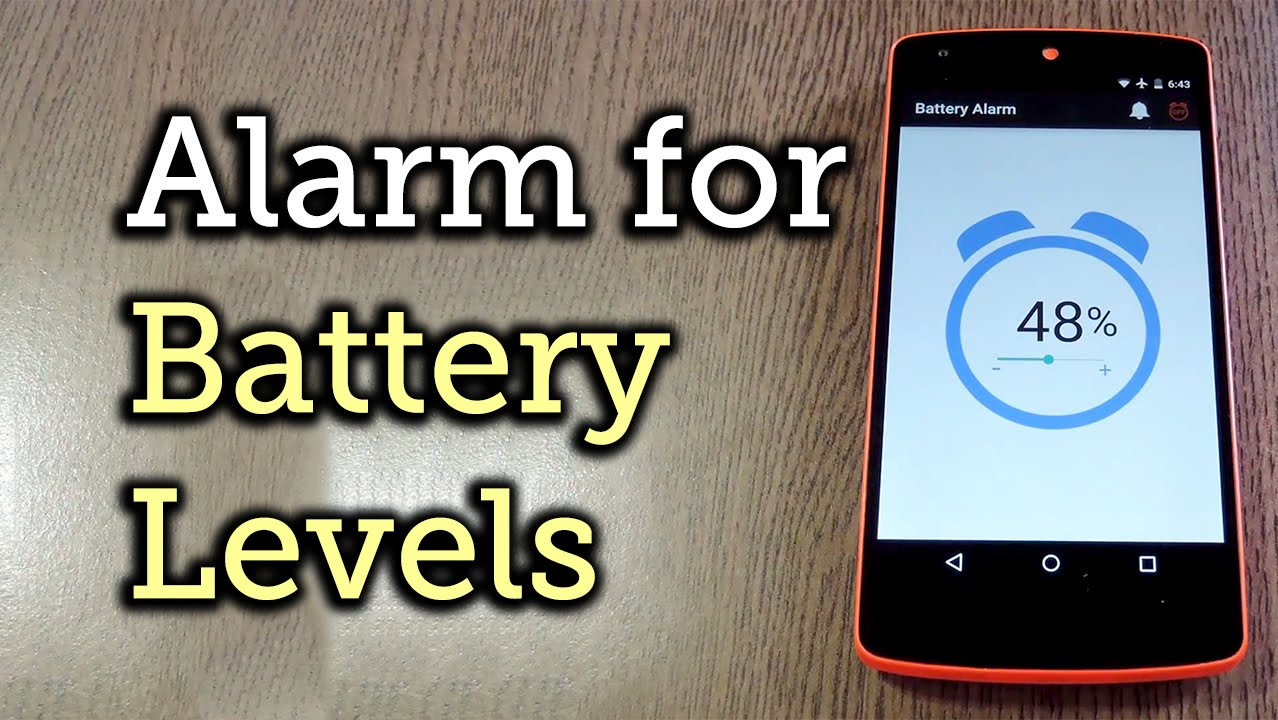 Make Your Android Device Notify You at Any Battery Level « Android