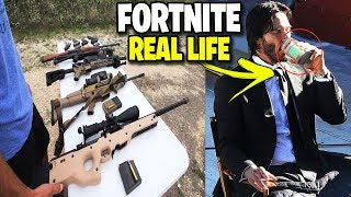 Fortnite in real life ! - Weapons, potions & outfits from Fortnite in real (Fortnite Real Life)