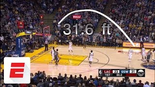 Steph Curry scores 44 points in the Warriors' 134-127 win over the Clippers | ESPN