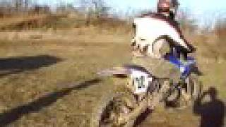 Motocross testing first tricks Yama...