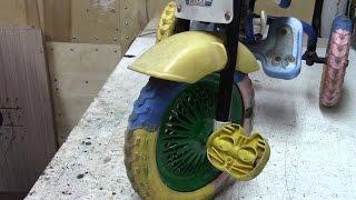 Ремонт детского велосипеда. Ремонт переднего колеса.