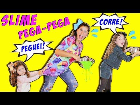FAZENDO SLIME BRINCANDO DE  PEGA-PEGA PLAY TAG SLIME