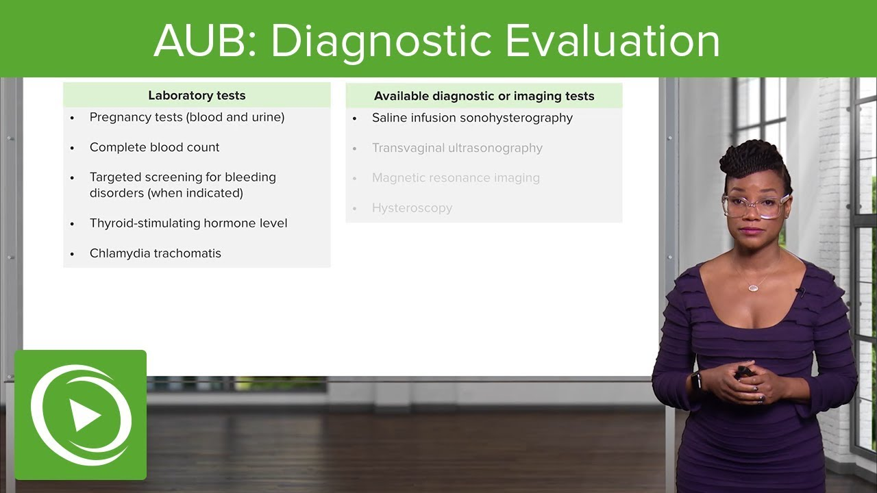 AUB: Diagnostic Evaluation and Case Study – Gynecology | Lecturio