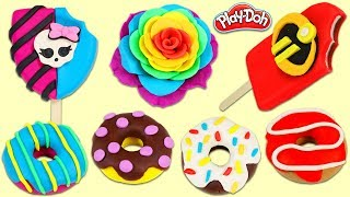 HUGE Play Doh Desserts, Donuts, Ice Cream Popsicles and More Compilation!