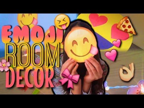Diy emoji room decor emoji lights emoji wall stickers for Emoji bedroom ideas