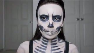 Скелет на Хэллоуин. Страшный макияж(Скелет на Хэллоуин. Страшный макияж. ГЛАВНОЕ: запечатлей себя в эффектном гриме: http://good-365.ru/hellow03 Купить..., 2014-10-17T08:26:36.000Z)