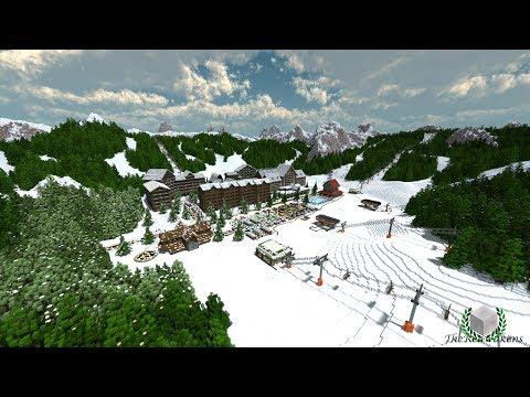 Minecraft Timelapse - Twin Peak Ski Resort [DOWNLOAD]