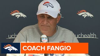Coach Fangio on joint practices: 'You pick your opponent wisely'