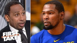 Stephen A. hearing James Dolan, Knicks reluctant to offer Kevin Durant the max contract | First Take