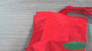 Shopping bag, Cute Rose Tote Bag, Reusable & Foldable (item#414-219)
