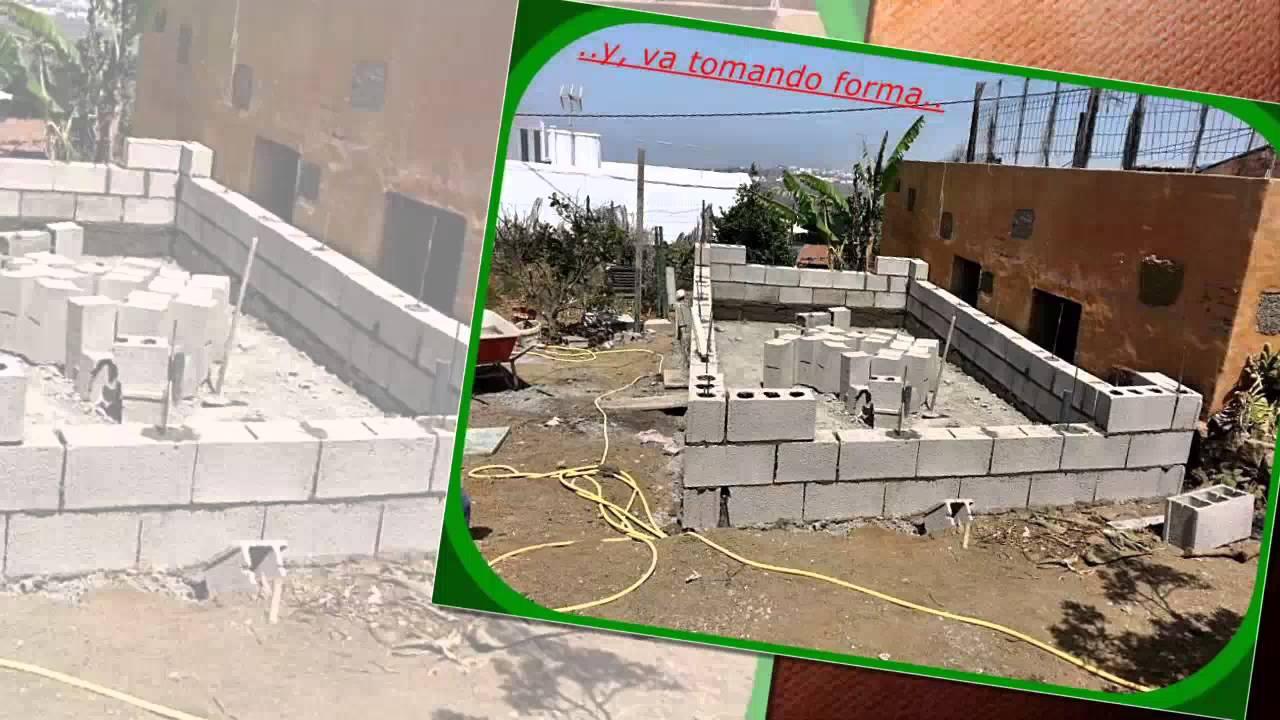 Construcci n de piscina r stica en gu a las palmas youtube for Piscinas rusticas fotos
