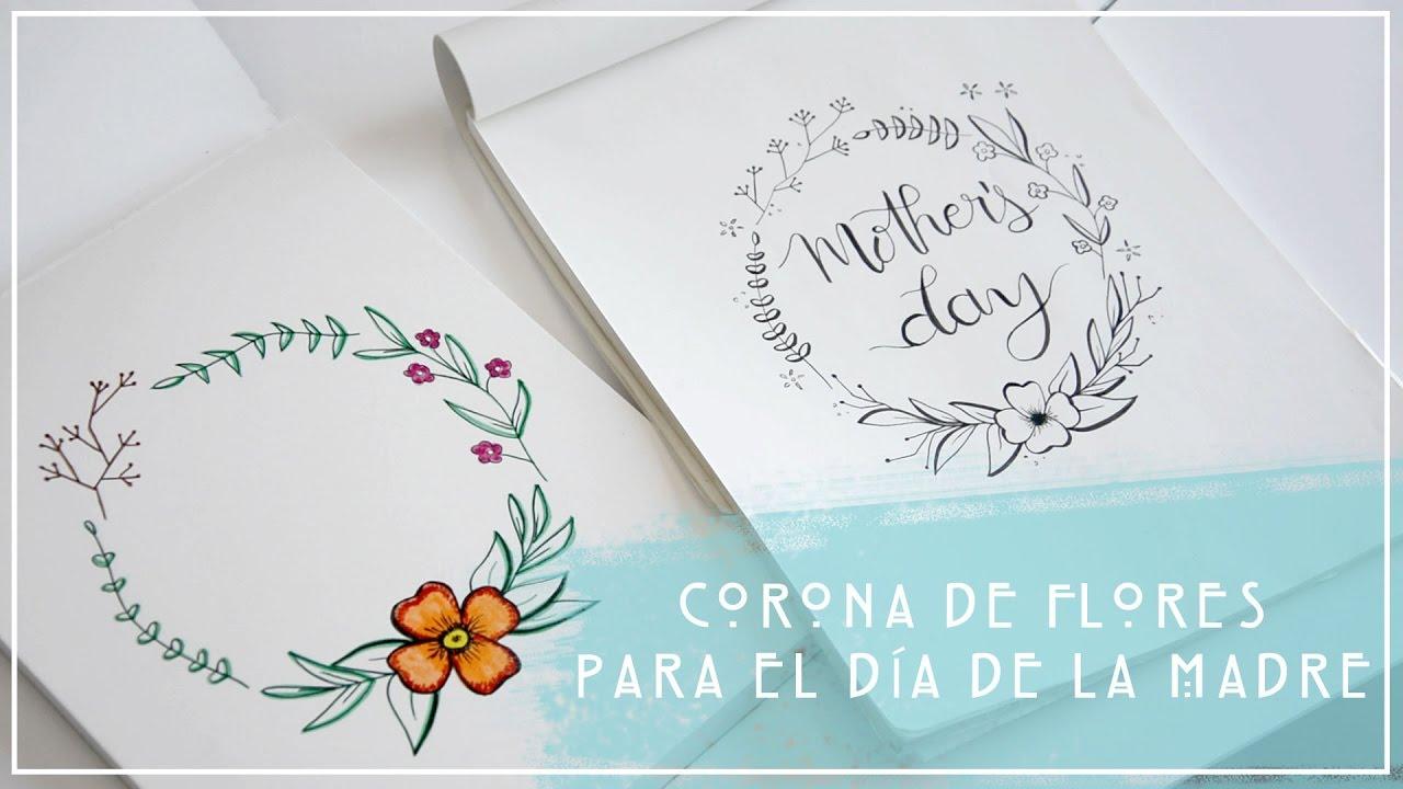Coronas Para Decorar Cuadernos.Corona De Flores Para El Dia De La Madre Idea De Regalo Diy