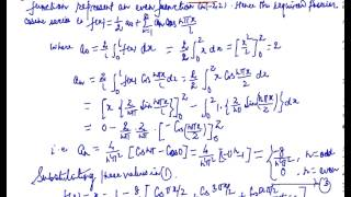 Half Range Fourier series, Half Range Series for Fourier Series Expression ....