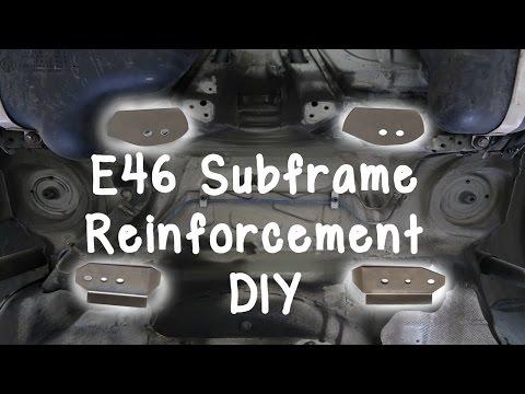 BMW E46 Rear Subframe Reinforcement DIY (Epoxy Method)