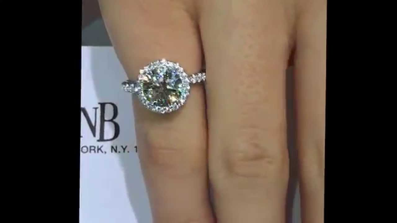 Charming 2 Ct Round Diamond Halo Engagement Ring In Platinum   YouTube