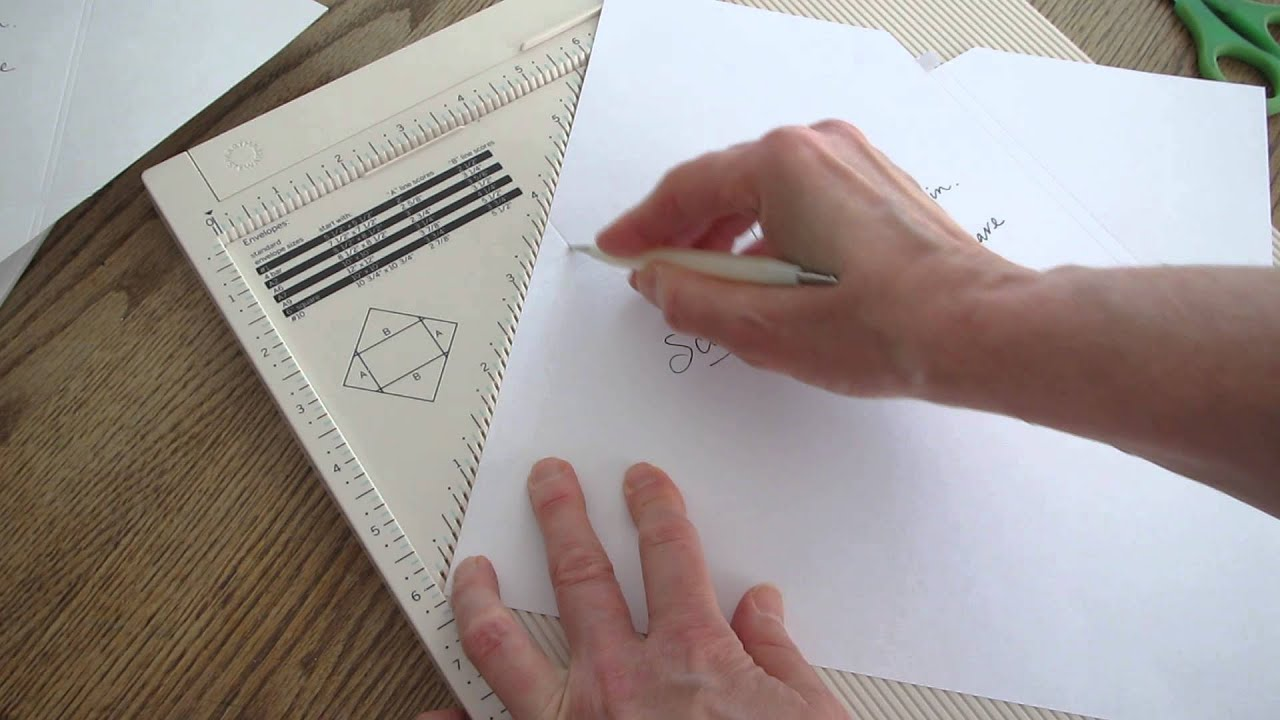 Make your own envelopes for 6 inch square cards with the Martha ...