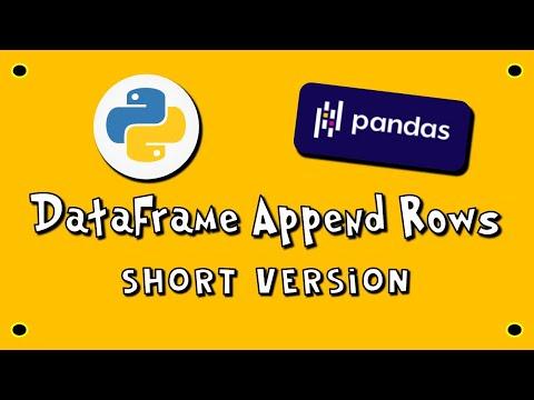 Pandas DataFrame Append Rows - SV