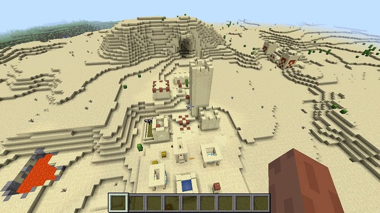 Minecraft 12.124 Seed 1237: Double village and desert temple at spawn!
