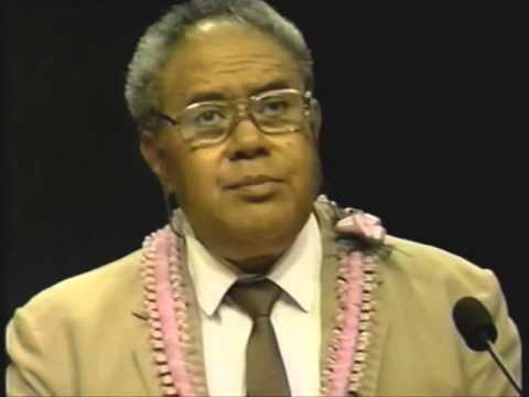Dr.Sione Latukefu Lecture Speech:Cultural Dynamism in The Pacific.Which way are we going?.