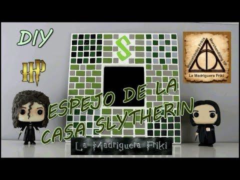 Diy espejo de la casa slytherin harry potter mosaico for Espejo harry potter