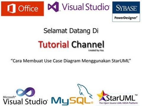 Tutorial Cara Membuat Use Case Diagram Menggunakan Staruml Youtube