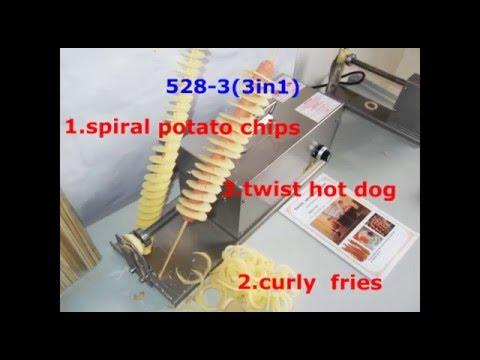 528-3(3in1) Spiral Potato - Chip on a Stick  Tornado Fries Tornado potato spring