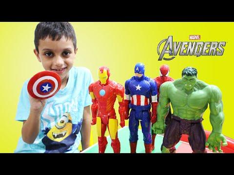 Capitão América Avengers Homem de Ferro Hulk Peppa Pig - Captain America Iron Man Super Hero ToysBR