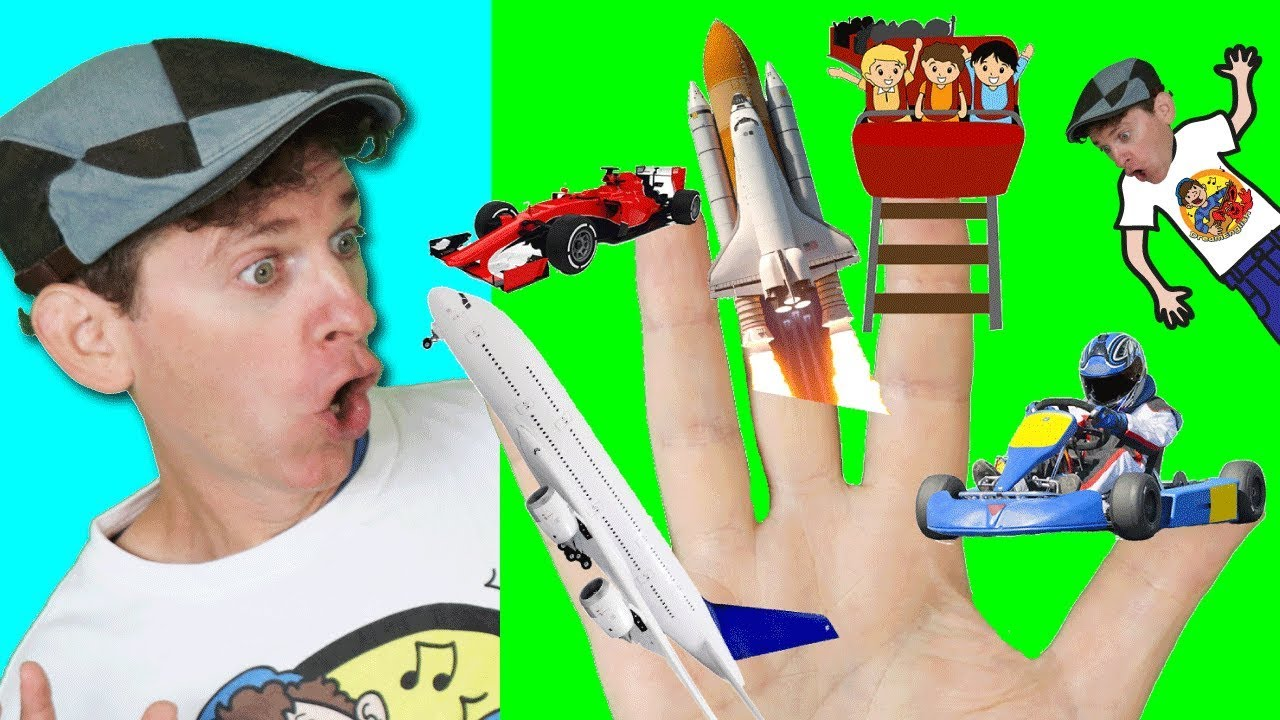 finger family song fast vehicles rocket race car action song