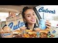 CULVERS MUKBANG | BURGER EATING SHOW