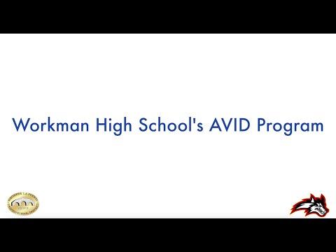 William Workman High School's AVID Program