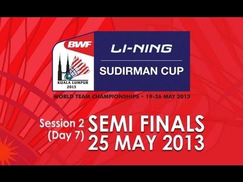 SF - XD - Zhang N./Zhao YL. vs J.Fischer Nielsen/C.Pedersen - 2013 Sudirman Cup