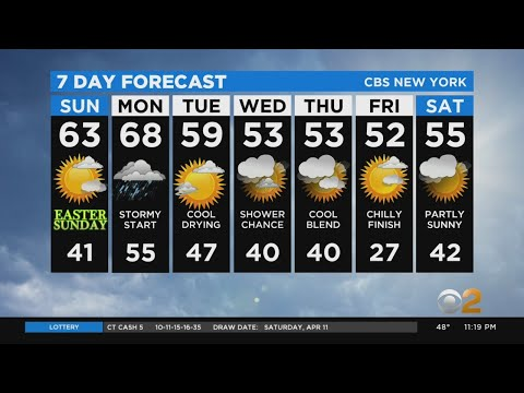 New York Weather: CBS2 4/11 Nightly Forecast At 11PM
