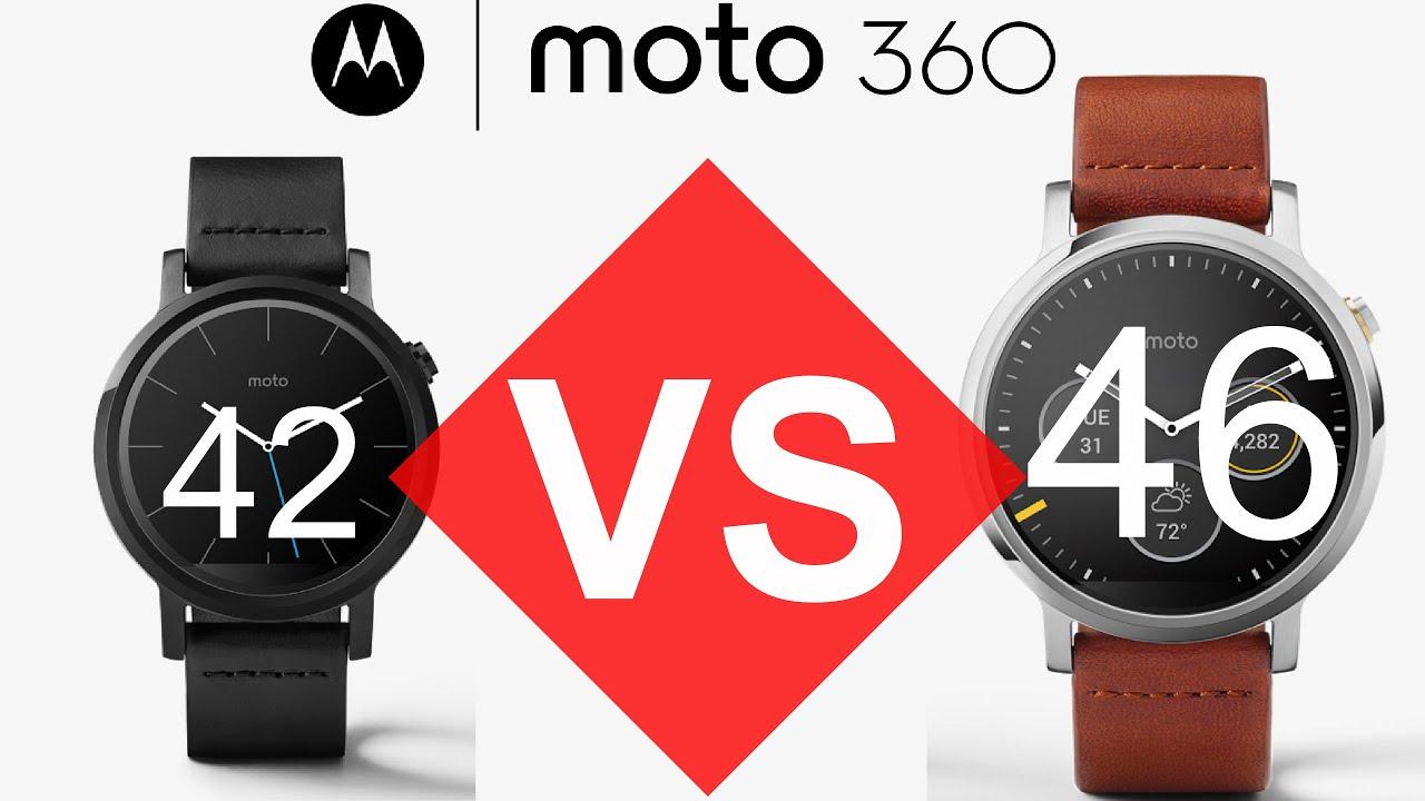 MOTO 360 46mm VS 42mm! - YouTube
