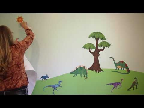 Decorating a Kids Room - Dinosaur Decals