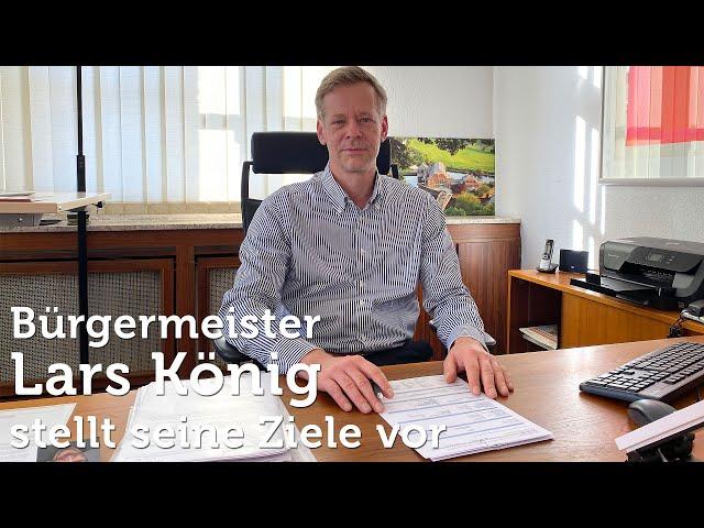Bürgermeister Lars König stellt seine Ziele für Witten vor
