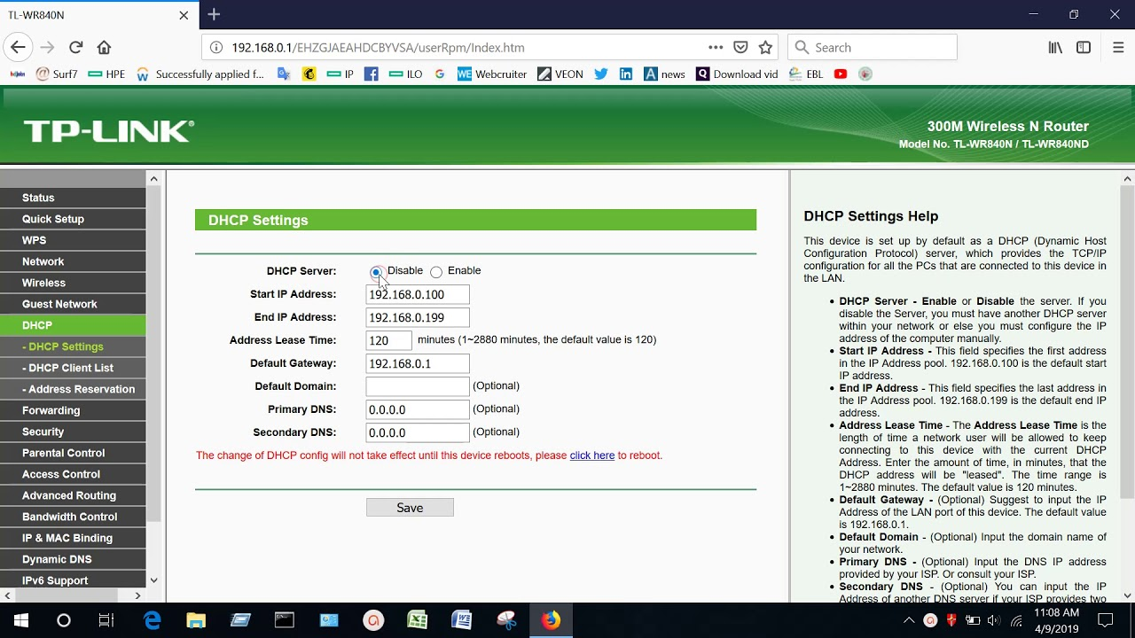 Disable DHCP Setting On TP Link Router !! Disable DHCP Server On TP Link  Router