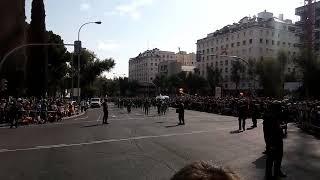 La Legión desfilando en Madrid el Día de la Hispanidad 2017.