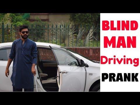 BLIND MAN DRIVING PRANK   Haris Awan