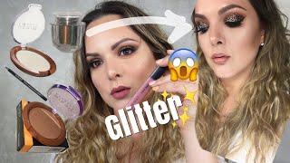Maquillaje de Noche con GLITTER  de Bissú   Brendasinh