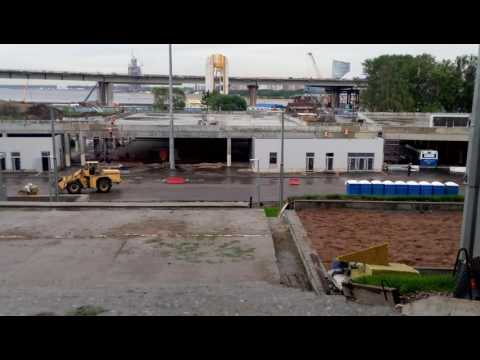 Construction of the stadium, St. Petersburg,Krestovsky island