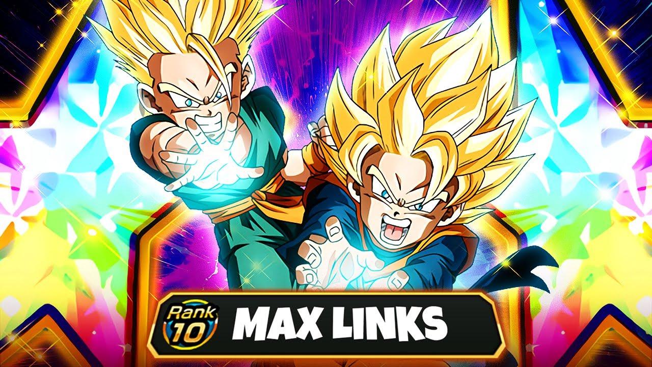 (Dokkan Battle) 9M ATTACK TURN 1? 100% Rainbow Full Level 10 Links Goten & Trunks Complete Overview!
