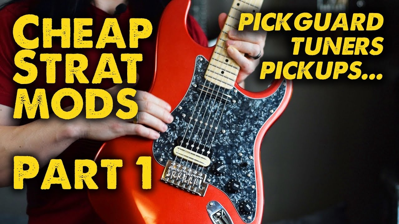 Leveling Up a Cheap Chinese Strat! - Demo / Parts Upgrade