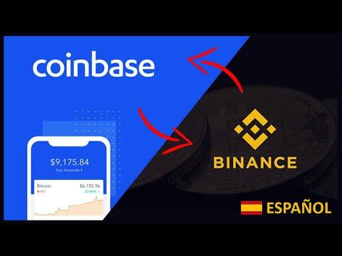 commercio bitcoin da coinbase a binance