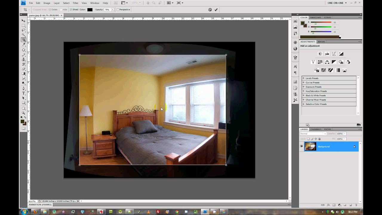 interior photography stitch and edit a panorama with photoshop