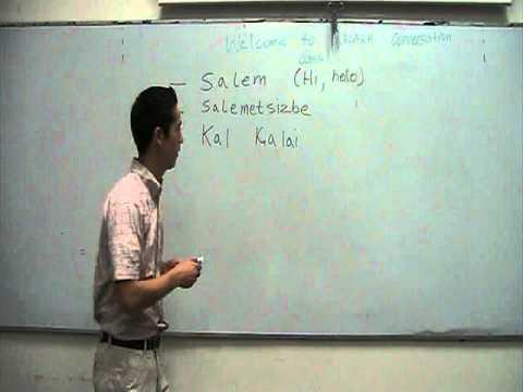 Kazakh lessons 1 (Greetings)
