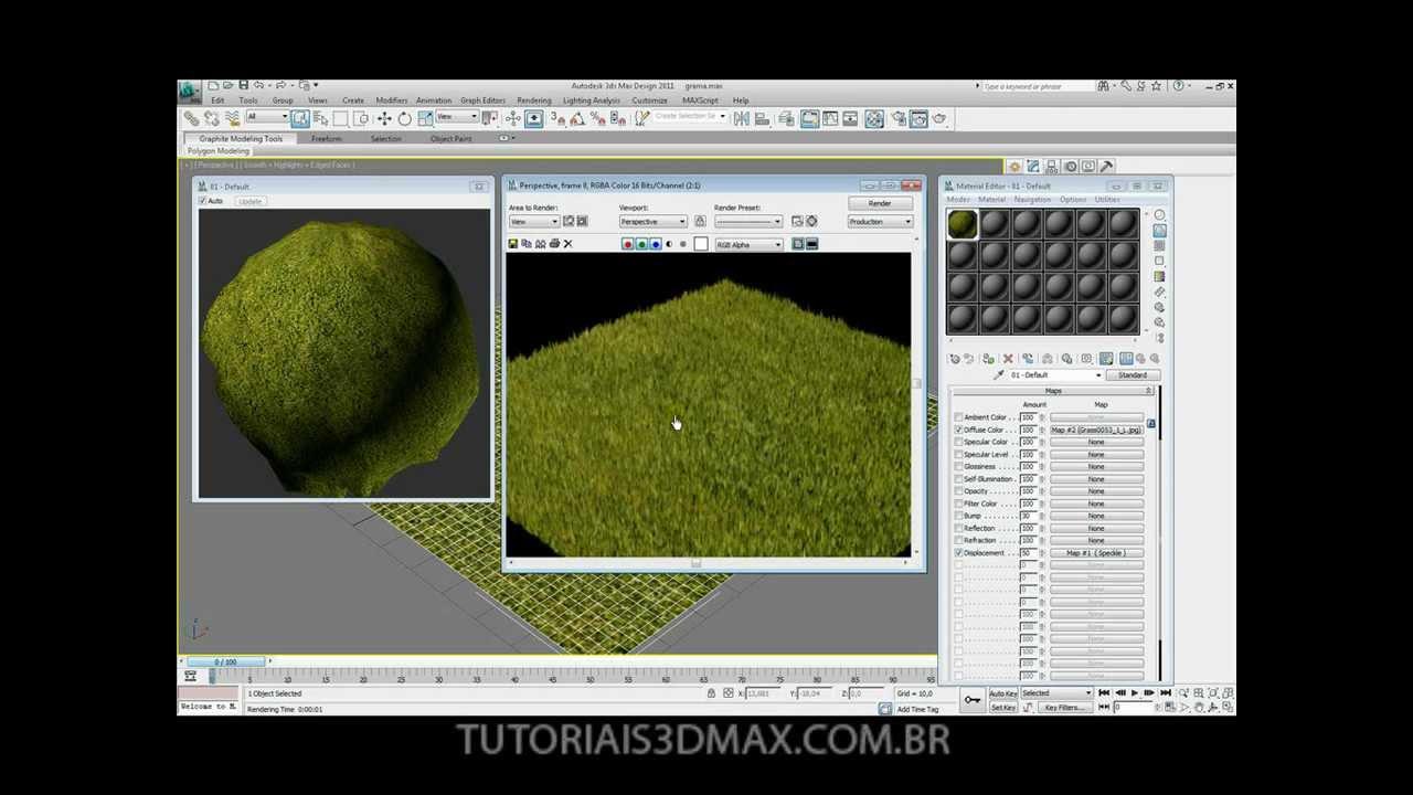 Tutorial 3d max criando grama re upload youtube for Tutorial 3d max