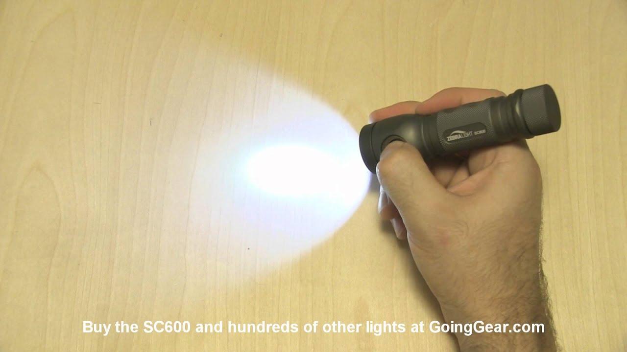 Zebralight SC600 XM-L LED Flashlight Review - YouTube