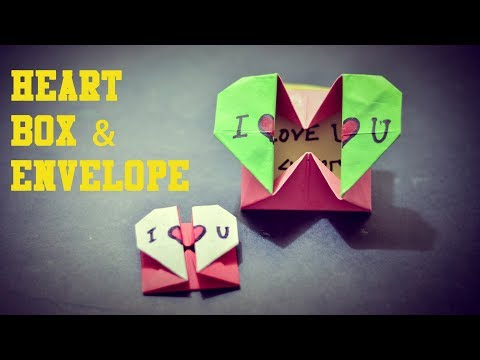 How to make a Heart Box & Envelope::Easy Origami  |Paper Craft |