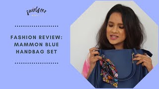 Fashion Review Mammon Blue Handbag Set Tote Purse And Sling Handbag Set Navy Blue Bag Review