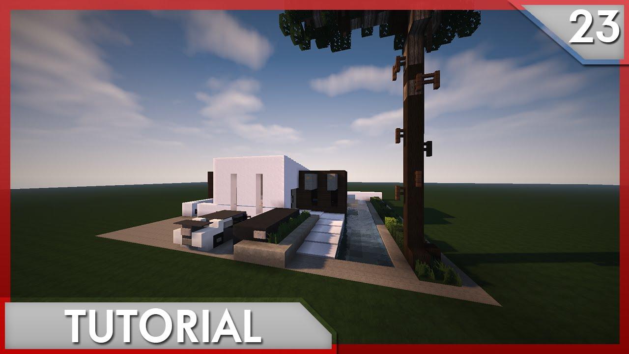 Minecraft como hacer una casa moderna 23 youtube for Eumaster casa moderna 8x8